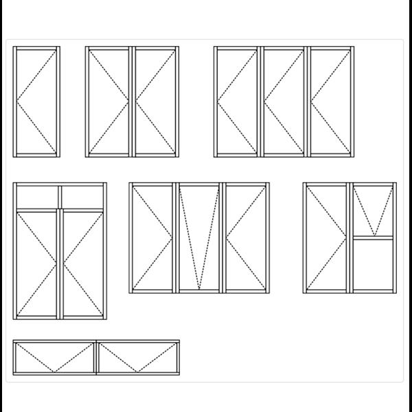 Jendela Aluminium Side / Top Hung