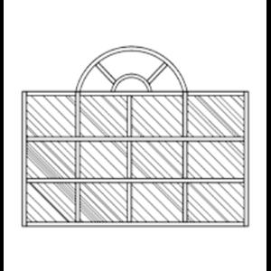 Partisi Kaca Fix Glass Model Klasik