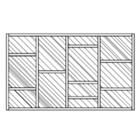 Partisi Kaca Fix Glass Model Acak 1
