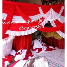 Dekorasi pernikahan dan hadiah rumbai tenda