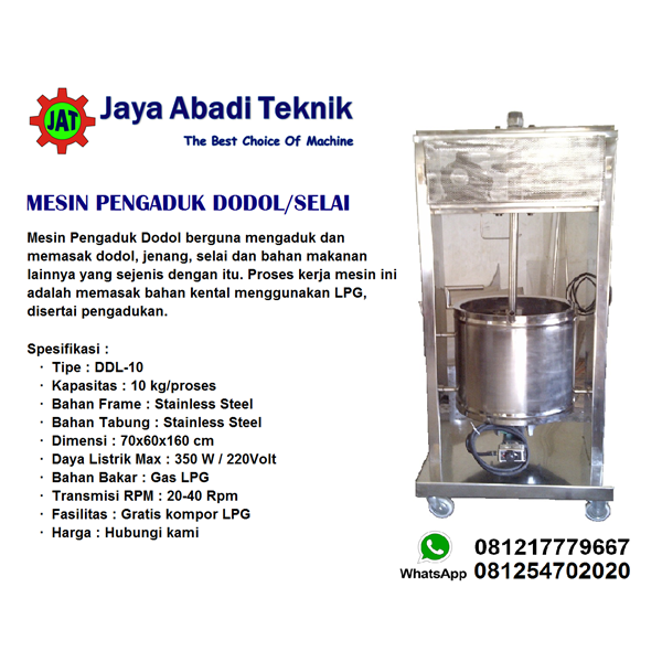 Mesin Pengaduk Dodol / Jenang / Selai
