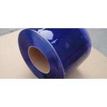 PVC Strip Curtain Blue Clear (Plastic Curtain)