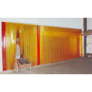 Dari PVC Strip Curtain Orange ( Tirai Plastik Oren ) 3