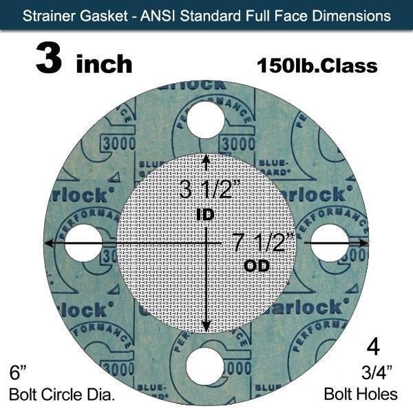 Gasket Sheet Garlock BLUE-GARD 3000