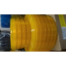 PVC STRIP CURTAIN RIBBED DOUBLE YELLOW