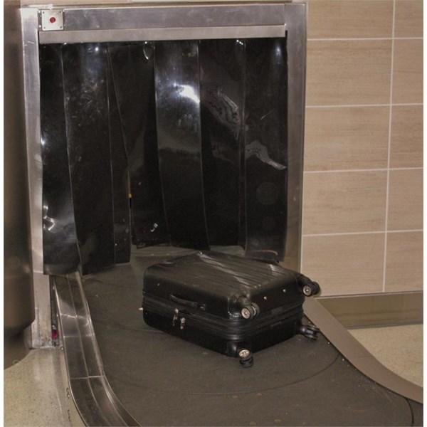 PVC Strip Curtain Opaque Black ( Tirai Plastik Hitam  )