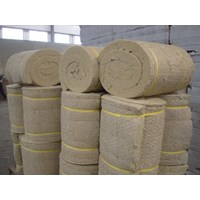 Jual Rockwool Blanket Insulation ( With Wire Mesh )