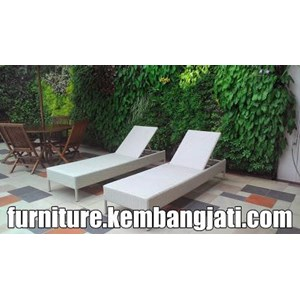 Chair Outdoor Beach Chairs Rattan Lounge Chairs Lounger Sunbad Synthetic  Jakarta