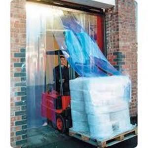 tirai PVC Blue Clear Pemasangan sentul