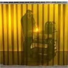 tirai PVC strip kuning Gudang