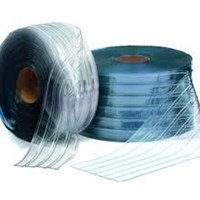 Plastik Curtain blue clear bertulang (telp 081325868706)