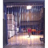 Jual Plastik Curtain blue clear bertulang (telp 081325868706) 2