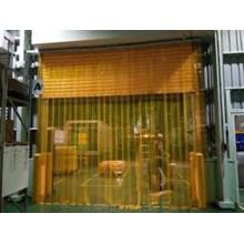 tirai pvc curtain kuning gudang tangerang