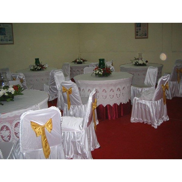 COVER MEJA BULAT KURNIA - Dekorasi Wedding