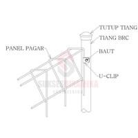 Hot Dip Galvanized fencing Brc t. 90Cm X 240Cm X l. 6 mm dia.