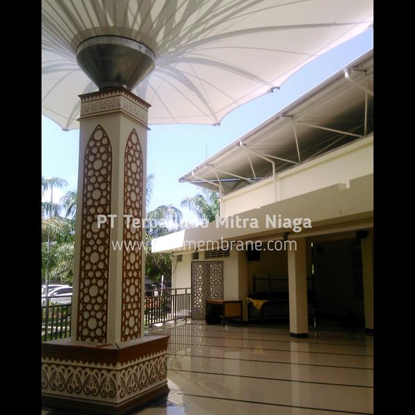 Tenda Membrane Masjid Model Corner