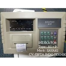Indikator Timbangan Type  A1+ P Merk Sayaki