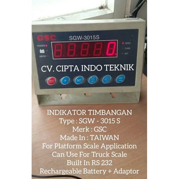 INDIKATOR  TIMBANGAN  SGW - 3015 S MERK GSC
