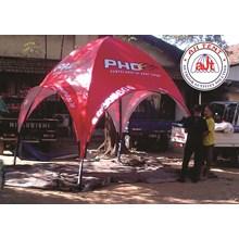 Tenda Dome Full cetak branding