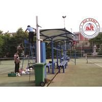 Tenda Membrane Kanopi Area Lapangan Tennis PLTU Pluit 1