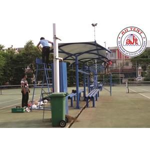 Tenda Membrane Kanopi Area Lapangan Tennis PLTU Pluit