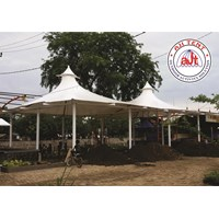 Tenda Membrane double cons untuk foodcourt 1