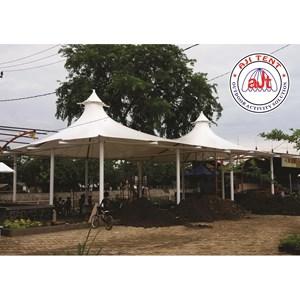 Tenda Membrane double cons untuk foodcourt