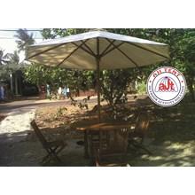 Tenda payung krangka kayu