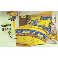 Jual Satu set bed cover Minion Mania