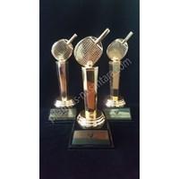 Jual Piala trophy Logam Bulu Tangkis