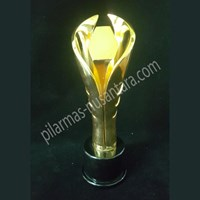 Trophy penghargaan logam 1