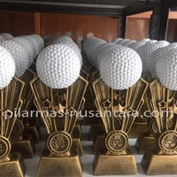 Trophy Logam Bola Golf 1