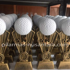 Trophy Logam Bola Golf