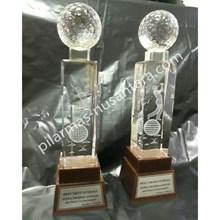 Trophy Kristal bola golf