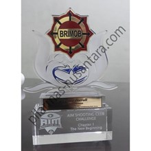 Trophy Acrylic Brimob Kejuaraan Menembak