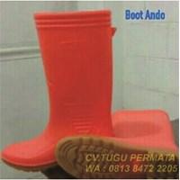Sepatu Boot ANDO Oranye