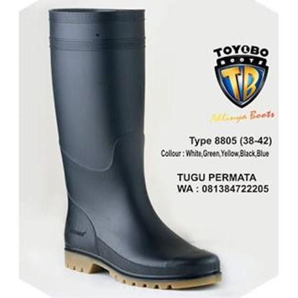 Sepatu BOOTS TOYOBO Putih Hijau kuning 8805