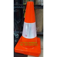 Traffic Cones full oranye 45cm 50cm safeline besgard 911