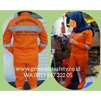 Jual Wearpack / coverall Baju Celana Orange 2