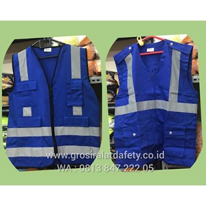 Pakaian Safety Rompi Safety Drill Kain 4 Kantong