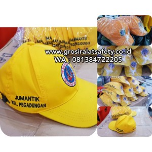 Orange Fabric Hat For PPSU And Jumantik Cleaning Officers
