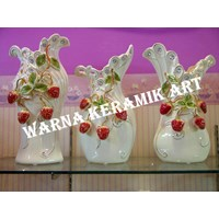 Jual VAS PERMATA STRAWBERRY