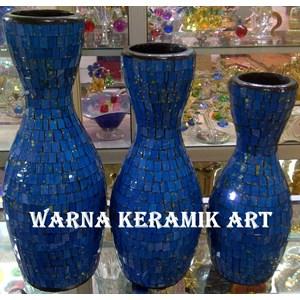 Guci Keramik BIRU MOZAIK WK107