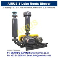 Jual Airus Roots Blower HDLH (Three-Lobe)