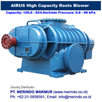 Jual Airus High Capacity Roots Blower (HDR Series)
