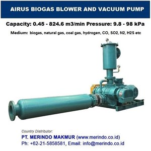 AIRUS BIOGAS VACUUM PUMP AND BOOSTER BLOWER