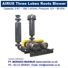 Airus Three Lobes Roots Blower  ( HDLH series )