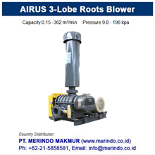 AIRUS Three Lobes Roots Air Blower