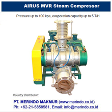 AIRUS MVR Steam Compressor and Vacuum Evaporator