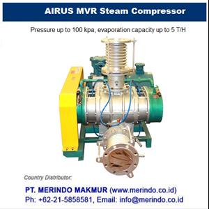 AIRUS MVR Steam Compressor and Vacuum Evaporator